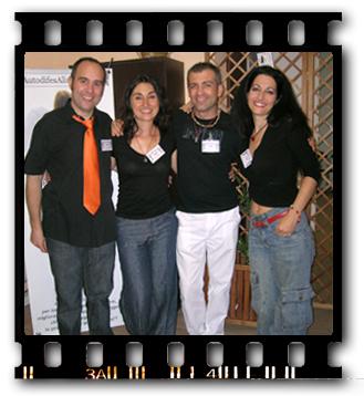 Elisa Pampolini e Riccardo Beltrami con Leonardo Di Paola & Viviana Taccione
