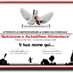 Attestato per gli Allievi di Autodifesa Alimentare