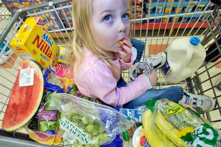 Corso di nutrizione: bambini al supermercato