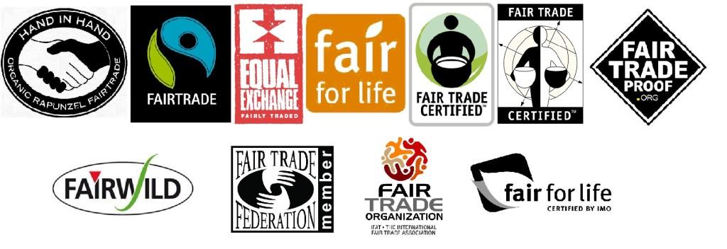 loghi del commercio equo e solidale