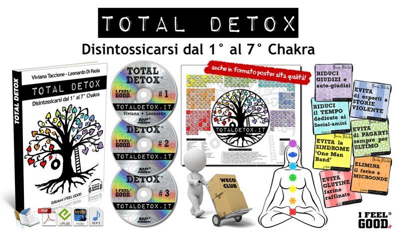 Total Detox, Corso per disintossicarsi dal 1° al 7° Chakra